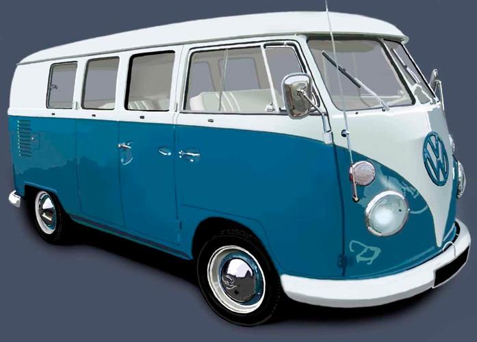 Campervan Blue White Jpg Caine Douglas Design Amp Print